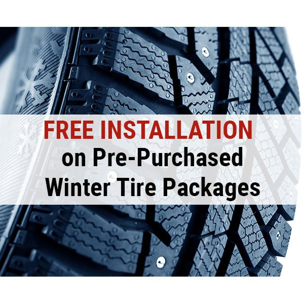 Free Installation on Pre-Purchased Winter Tire Packages