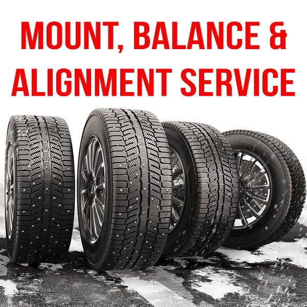 Mount & Balance Tire + 4-Wheel Alignment